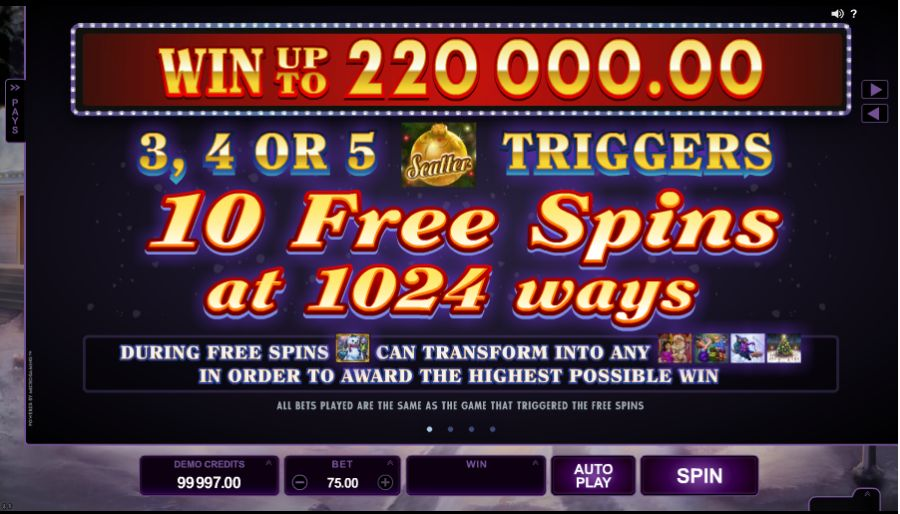 Happy Holidays Free Spins Feature