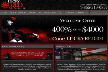 Lucky Red Welcome Bonus Code