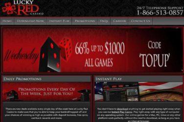 Lucky Red Deposit Bonus Code
