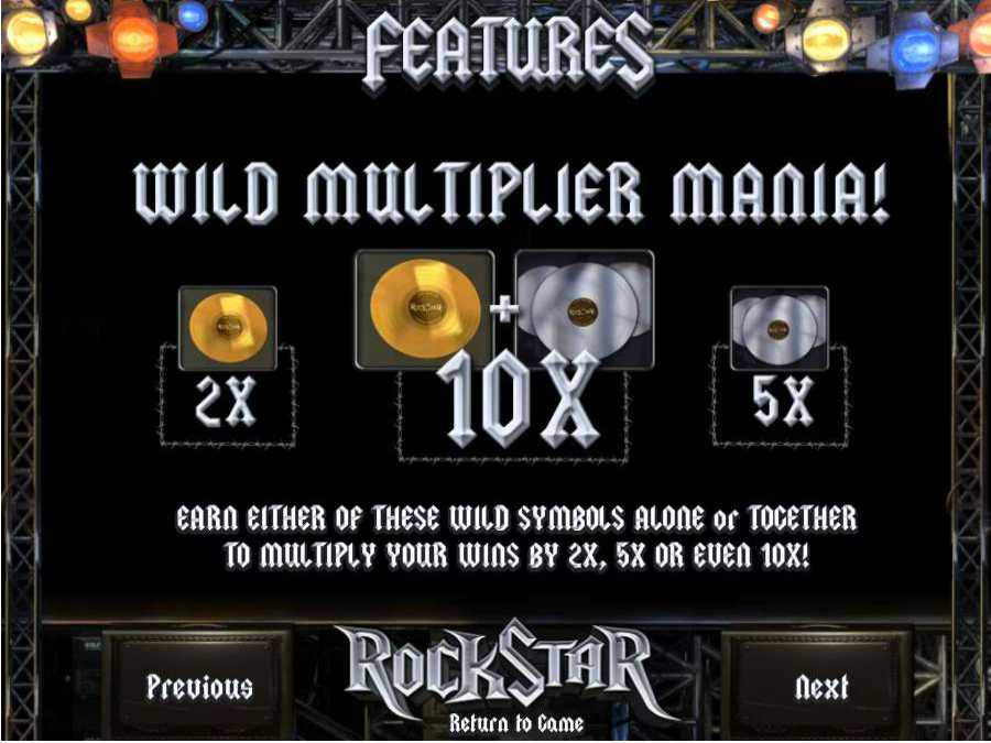 RockStar Wild Multiplier Mania Feature