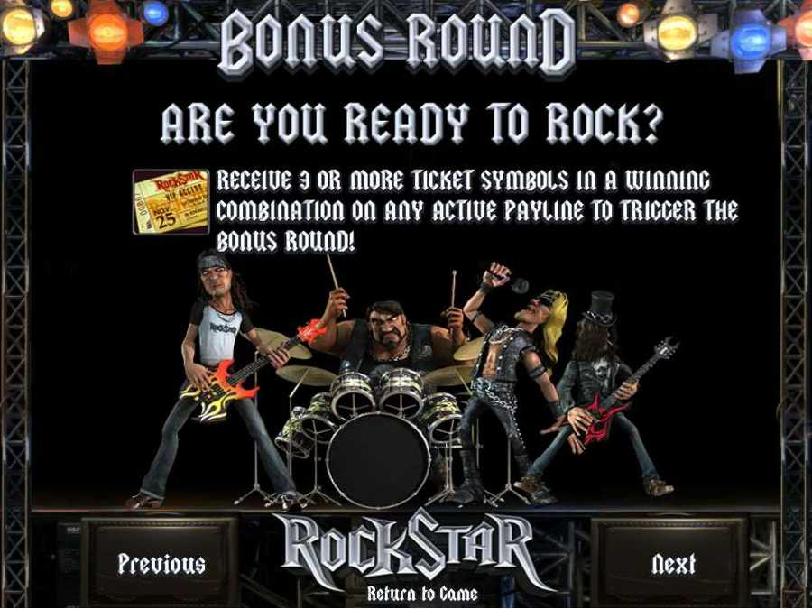 Rockstar Bonus Round Feature