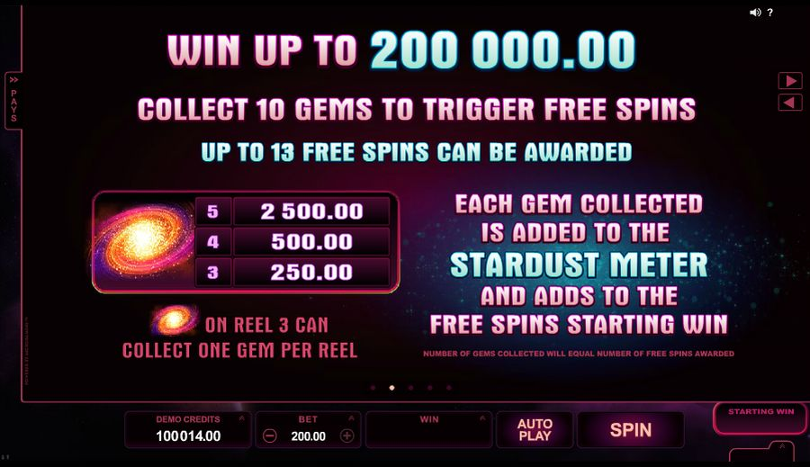 Stardust Gem Free Spins Feature