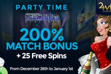 VIP24 New Years Bonus + 25 free Spins