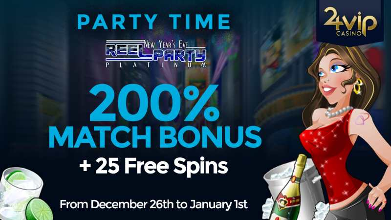 VIP24 New Years Bonus + 25 free Spins