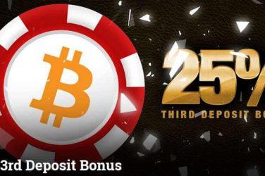 Betcoin 3rd Deposit Bonus