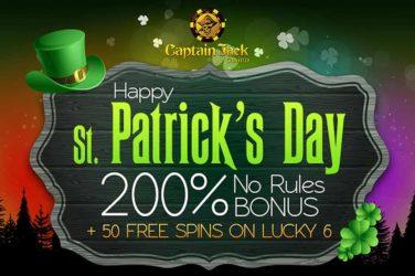 Captain Jack Lucky 6 Bonus Code