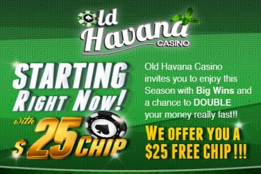 Old Havana Free Chip & Bonus Offer