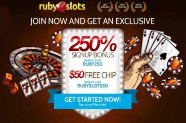 Ruby Slots Match Bonus Code