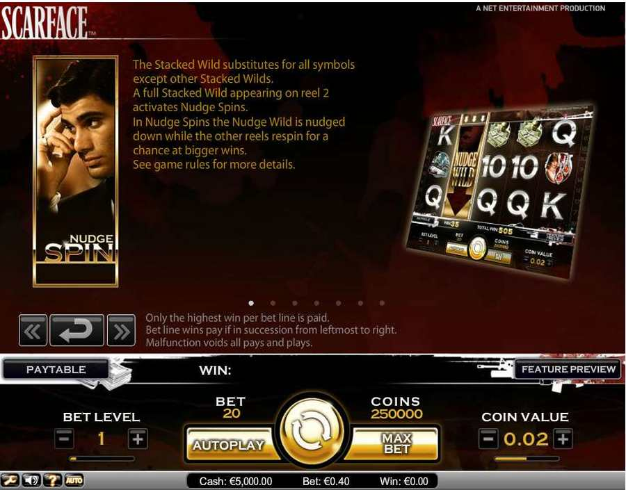 Scarface Wild Spin Nudge Feature