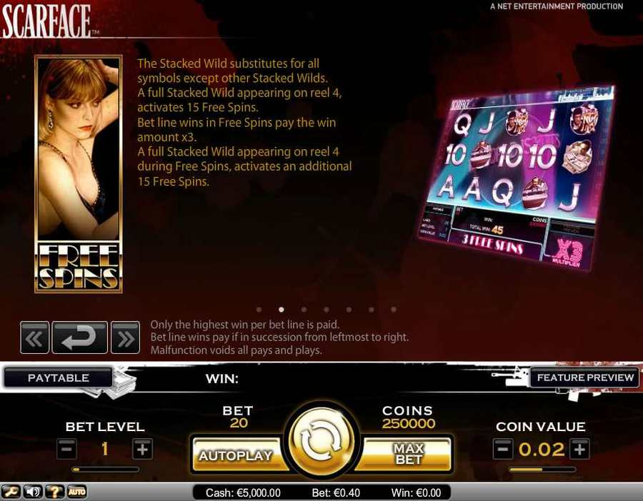 Scarface Free Spins Feature