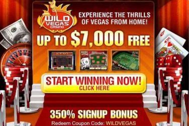 Wild Vegas sign up bonus Code