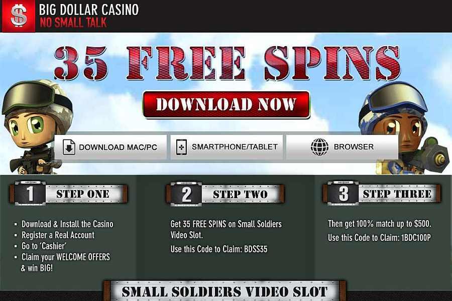 Big Dollar Soldiers Slot Bonus Code