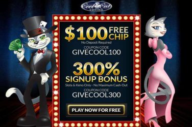 Cool Cat Casino Sign up bonus Code