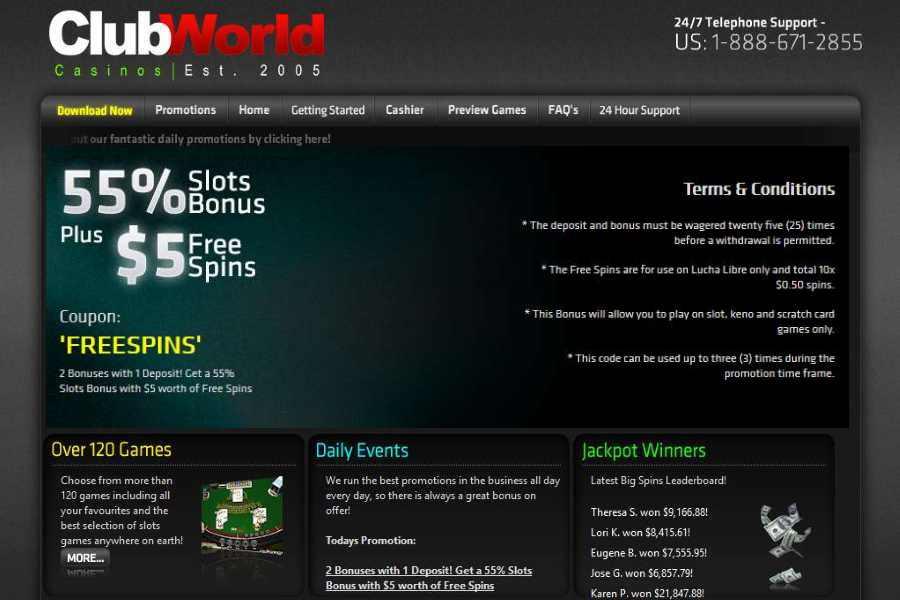 Club World Slots Bonus Code