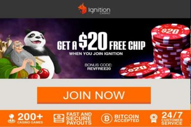 Ignition No Deposit bonus: REVFREE20