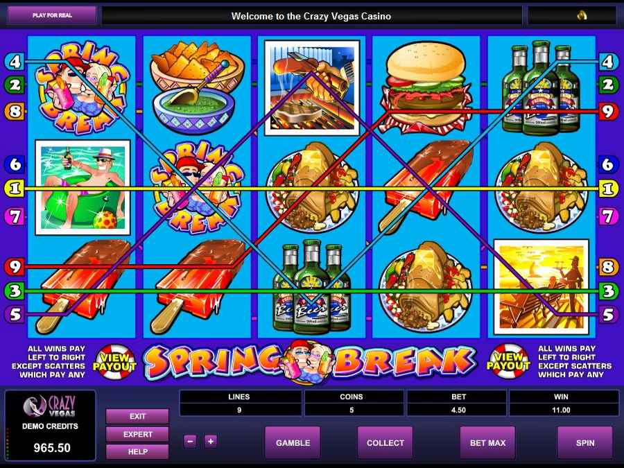 Spring Break Slots Winning Example