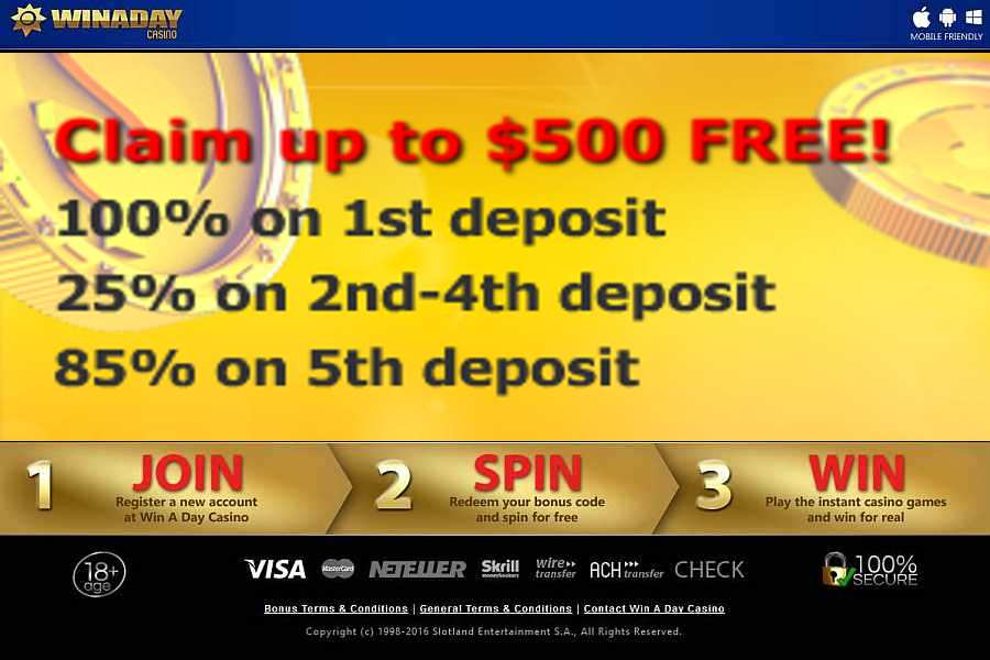 win a day casino no deposit codes 2019