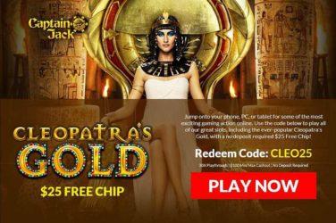 Captain Jack Cleopatra's Gold Bonus Code