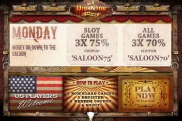 High Noon Monday Bonus Codes