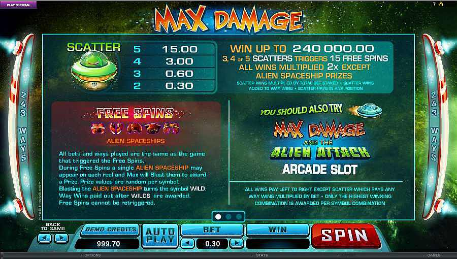 Max Damage Bonus Feature