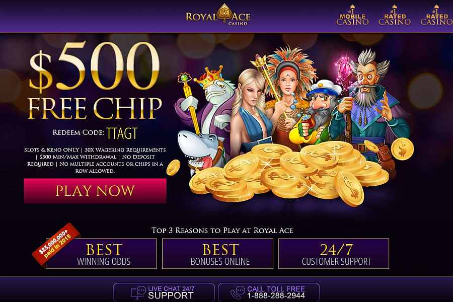 no deposit bonus royal ace casino