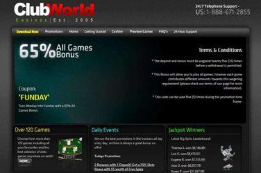 Club World Monday Bonus Code