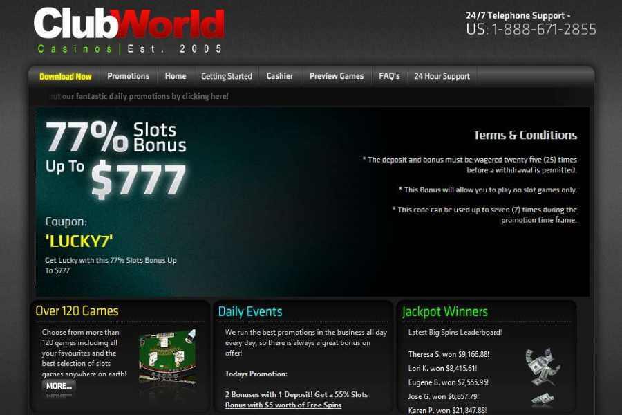 Club World Tuesday Slots Bonus