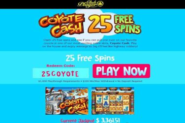 Club Player Coyote Cash Bonus Code