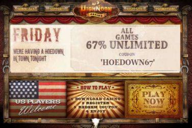 High Noon Fridays bonus Code