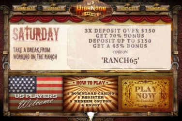 High Noon Saturday Deposit Bonus Code