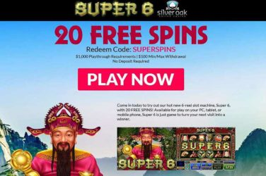 Silver Oak Super6 Bonus Code