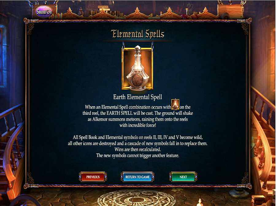 Alkemors Tower Earth Elemental Spell