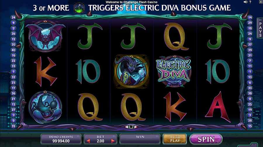 Electric Diva Slot Machine - Review and Free Online Game