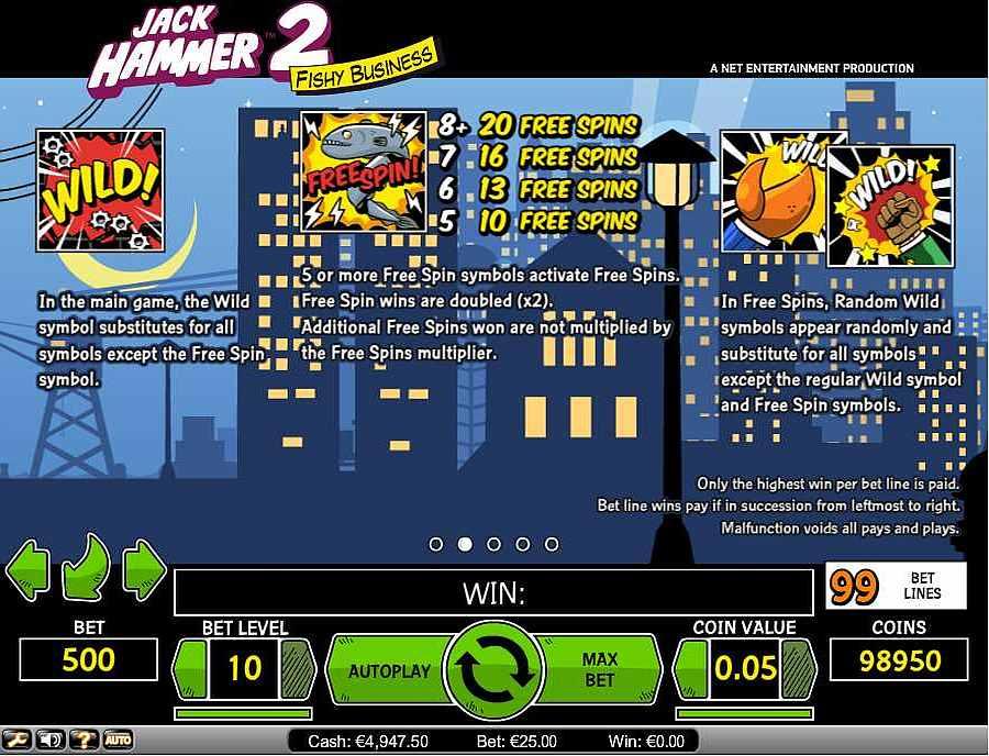 Jack Hammer 2 Bonus Features