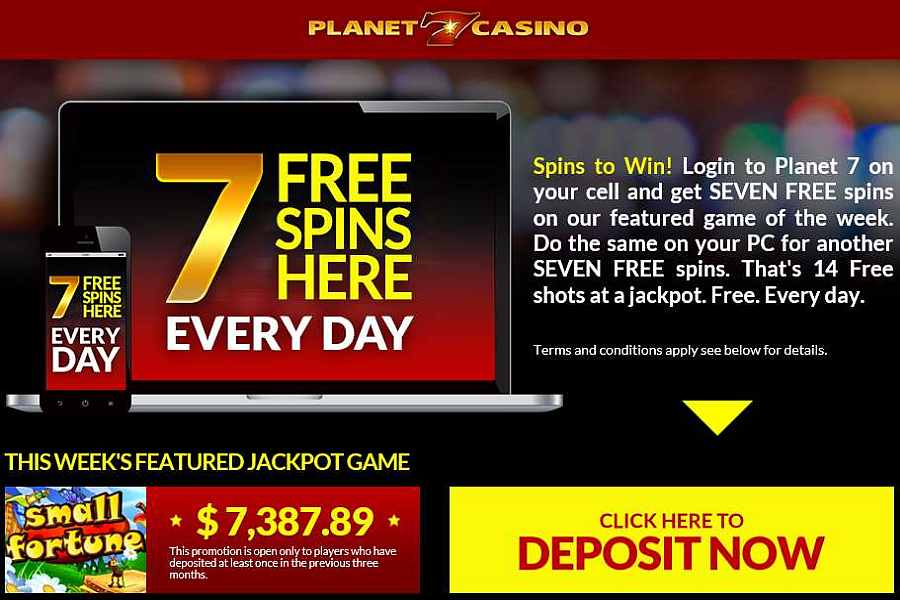 planet7 casino free bonus codes