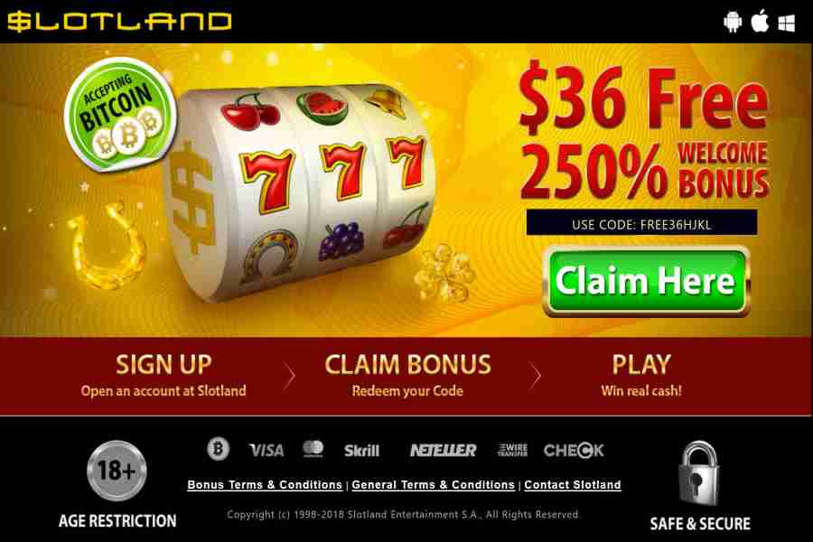 Slotland Exclusive No deposit Bonus