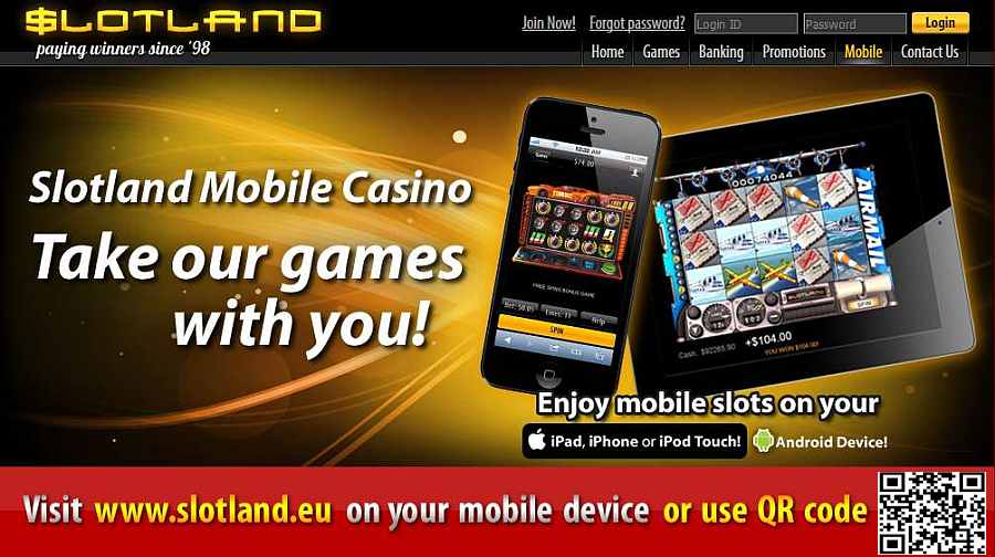 Play mobile slots at Slotland