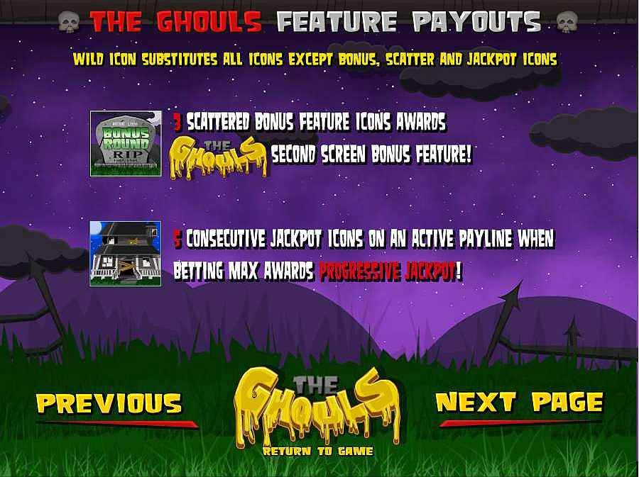 The Ghouls Wild Scatter Features