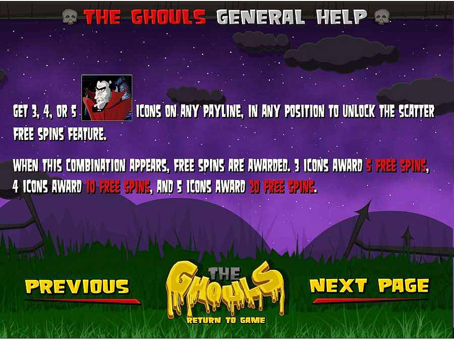 The Ghouls Free Spins Feature