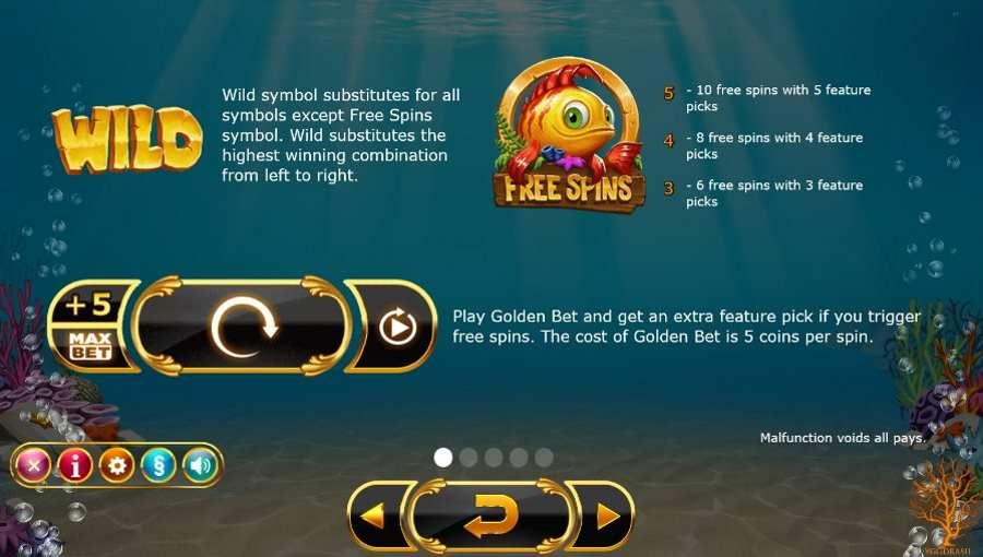 Golden Fish Tank Wild Feature