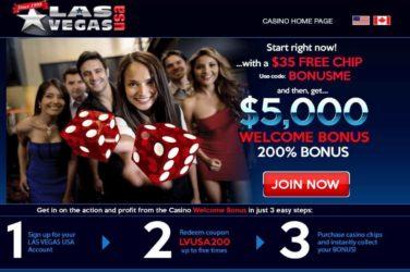 Las Vegas USA No Deposit Bonus Codes