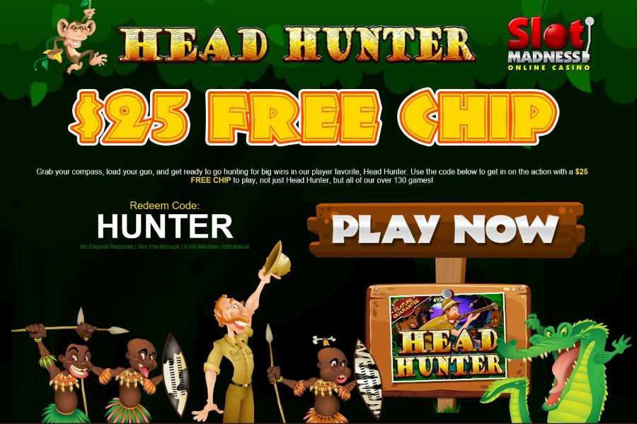 Slot Madness Head Hunter Bonus Code