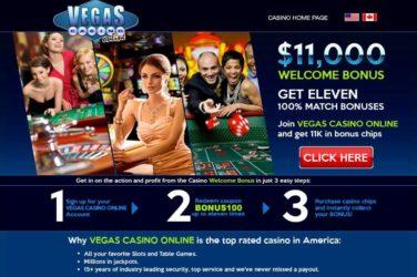 Vegas Casino Online Welcome Bonus Code