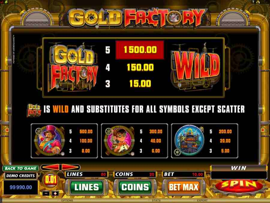 Gold Factory Wild Bonus Feature