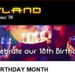Slotland 18th Birthday Bonus Codes