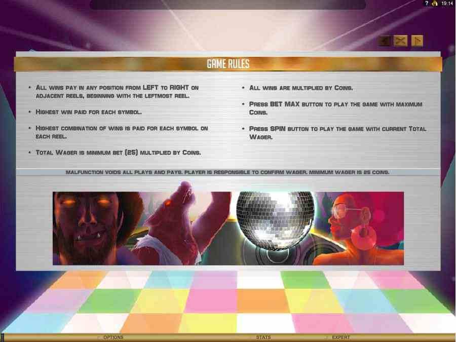 Game Rules Screen