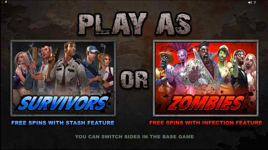 Lost Vegas Play as Survivores or Zombies Screen