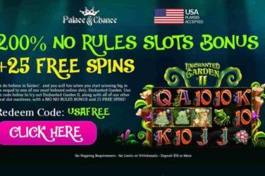 Palace of Chance Enchanted Garden II Bonus Code