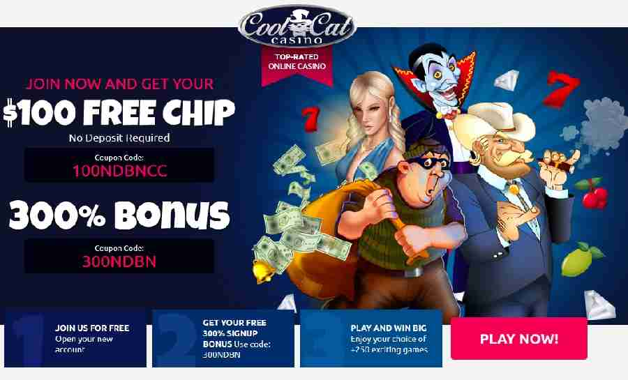 Cool Cat No Deposit Bonus Code 100NDBNCC