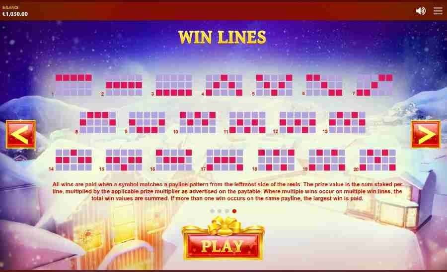 Jingle Bells Winning Pay-lines